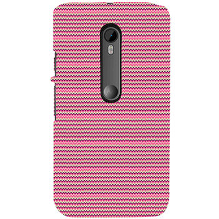 ifasho Animated Pattern of pink lining pattern Back Case Cover for Moto X Force