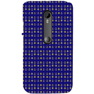 ifasho Modern Art Design Pattern with Lot Of small anchor and disc Back Case Cover for Moto X Force