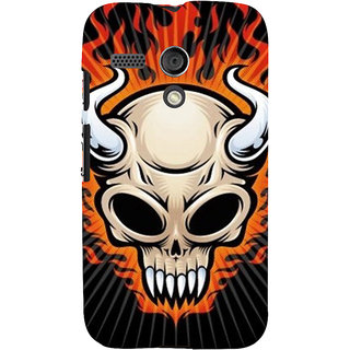ifasho Modern  Design animated skeleton Back Case Cover for Moto G