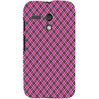 ifasho Colour Full Square Pattern Back Case Cover for Moto G