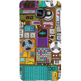 ifasho Animated Pattern design music recording cartoons tape  Back Case Cover for Samsung Galaxy A3 A310 (2016 Edition)