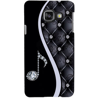 ifasho Modern Art Design Pattern Music symbol Back Case Cover for Samsung Galaxy A3 A310 (2016 Edition)