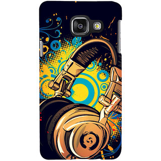 ifasho Modern Art Design Pattern animated Music Ins3Dument head phone Back Case Cover for Samsung Galaxy A3 A310 (2016 Edition)