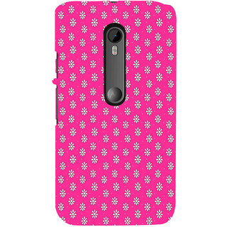 ifasho Animated Pattern design white flower in pink background Back Case Cover for Moto X Force