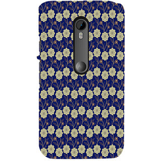 ifasho Animated Pattern design colorful flower in royal style Back Case Cover for Moto X Force