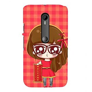 ifasho Crazy Girl Back Case Cover for Moto X Force