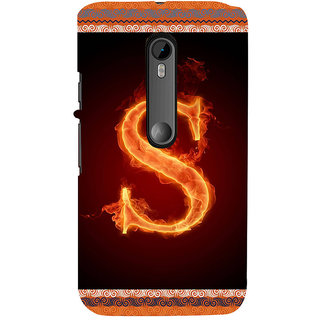 ifasho alphabet name series S Back Case Cover for Moto X Force