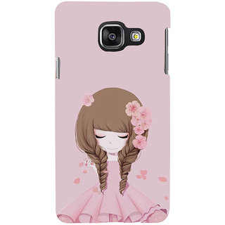 ifasho Girl  with Flower in Hair Back Case Cover for Samsung Galaxy A3 A310 (2016 Edition)
