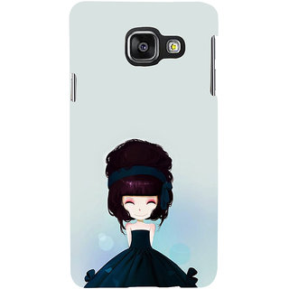 ifasho Cute Girl with Ribbon in Hair Back Case Cover for Samsung Galaxy A3 A310 (2016 Edition)
