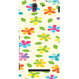 ifasho Animated Pattern flower with leaves Back Case Cover for Sony Xperia C3 Dual