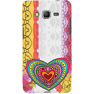 ifasho Modern Art Design Pattern with Heart and design colorful Back Case Cover for Samsung Galaxy Grand Prime
