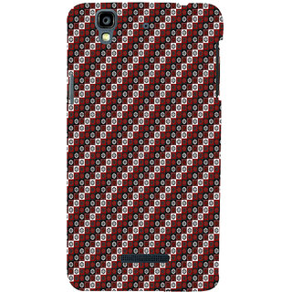 ifasho multi color 3Diangle rectangle and circle Pattern Back Case Cover for YU Yurekha