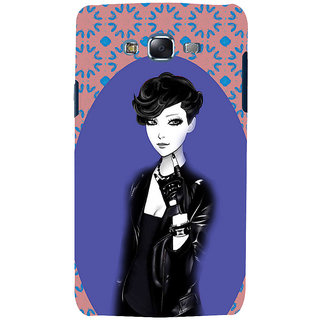 ifasho Girl in Black Jacket Back Case Cover for Samsung Galaxy J7 (2016)