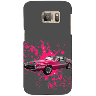 ifasho Vintage Car Back Case Cover for Samsung Galaxy S7 Edge