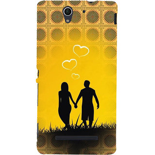 ifasho Boy Holding girls Hand Back Case Cover for Sony Xperia C3 Dual