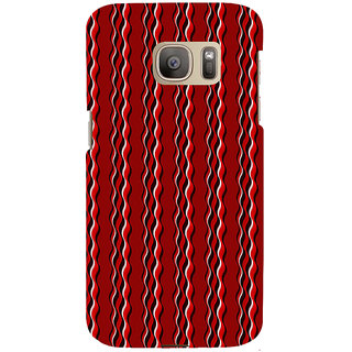 ifasho Design lines pattern Back Case Cover for Samsung Galaxy S7 Edge