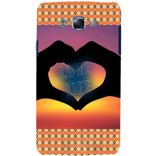 ifasho Love life heart shape made by hand  Back Case Cover for Samsung Galaxy J7