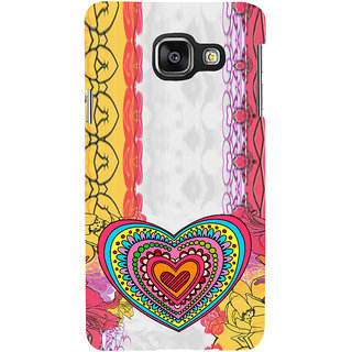 ifasho Modern Art Design Pattern with Heart and design colorful Back Case Cover for Samsung Galaxy A3 A310 (2016 Edition)