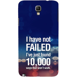 ifasho quotes on success Back Case Cover for Samsung Galaxy Note3 Neo