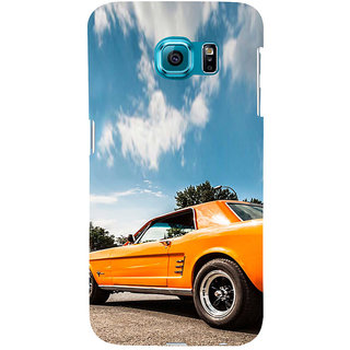 ifasho Orange colour Car Back Case Cover for Samsung Galaxy S6 Edge Plus