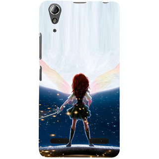 ifasho Girl with blade animated Back Case Cover for Lenovo A6000 Plus