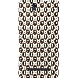 ifasho Animated  Royal design with Queen head pattern Back Case Cover for Sony Xperia C3 Dual