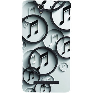 ifasho Modern Art Design Pattern Music symbol Back Case Cover for Sony Xperia C3 Dual