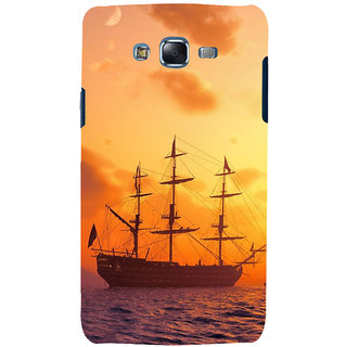 ifasho Ship in See at sunset Back Case Cover for Samsung Galaxy J7