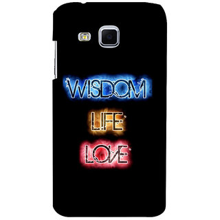 ifasho Wisdom life love designed quote Back Case Cover for Samsung Galaxy J3