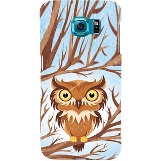 ifasho Animated Owl Pattern Back Case Cover for Samsung Galaxy S6 Edge Plus