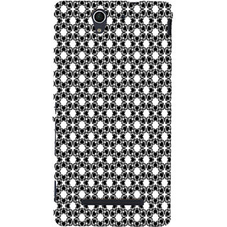 ifasho Modern Art Design Pattern with Lot Of small heart Back Case Cover for Sony Xperia C3 Dual