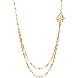 Fabula's Gold Infinity Multi-layer Fashion Jewellery Necklace for Women & Girls