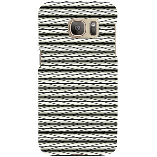 ifasho chevron style and Checks In black and white Pattern Back Case Cover for Samsung Galaxy S7 Edge