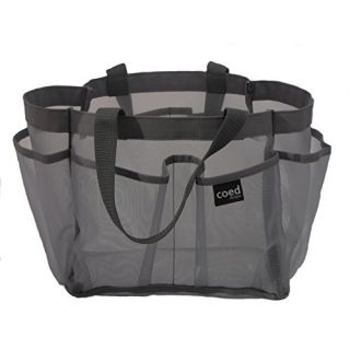 Quick dry nylon Shower caddy mesh net 7 pockets tote organizer glamour bag 2 handles Bigger Size ~10 in x 8 in x 8 in fo