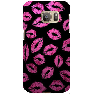 ifasho lovely Lips Back Case Cover for Samsung Galaxy S7 Edge