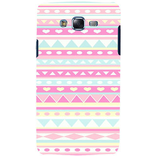 ifasho multi color 3Diangular and love Pattern Back Case Cover for Samsung Galaxy J7