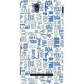 ifasho You letter pattern Back Case Cover for Sony Xperia C3 Dual