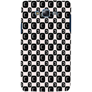 ifasho Modern Theme of black and white Squre and dots pattern Back Case Cover for Samsung Galaxy J7