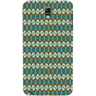 ifasho Animated Pattern design colorful flower in royal style with lines Back Case Cover for Samsung Galaxy Note3 Neo