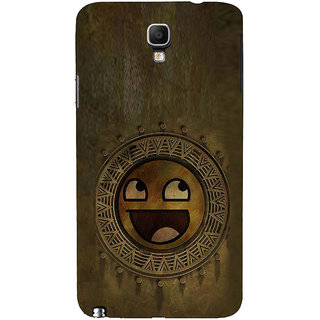 ifasho Smilee on wood Back Case Cover for Samsung Galaxy Note3 Neo