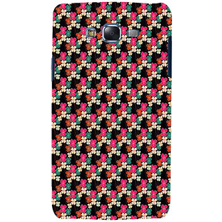 ifasho Animated Pattern design colorful flower in black background Back Case Cover for Samsung Galaxy J5