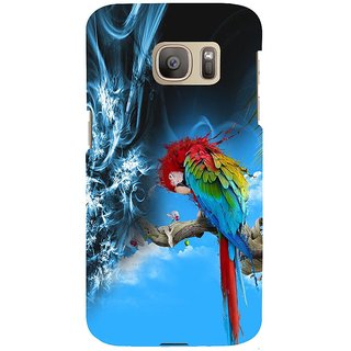 ifasho Parrot In Animation Back Case Cover for Samsung Galaxy S7 Edge