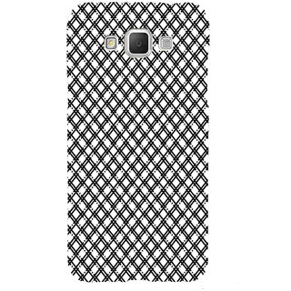 ifasho Modern Theme of black and white Squre lines Back Case Cover for Samsung Galaxy Grand3