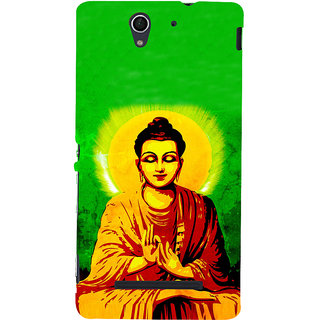 ifasho Lord Budha Back Case Cover for Sony Xperia C3 Dual