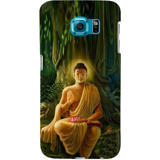 ifasho Lord Budha Back Case Cover for Samsung Galaxy S6 Edge Plus