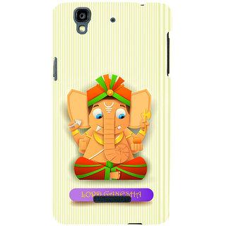 ifasho Modern Art Ganesh Back Case Cover for YU Yurekha
