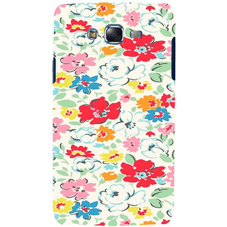 ifasho Animated Pattern colrful flower with leaves Back Case Cover for Samsung Galaxy J7