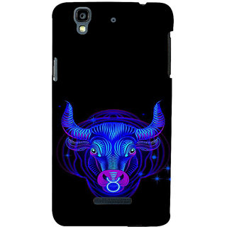 ifasho zodiac sign Taurus Back Case Cover for YU Yurekha