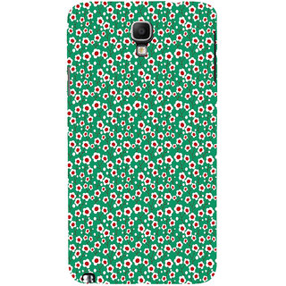 ifasho Pattern green white and red animated flower design Back Case Cover for Samsung Galaxy Note3 Neo