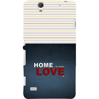 ifasho Home is where love is quote Back Case Cover for Sony Xperia C4